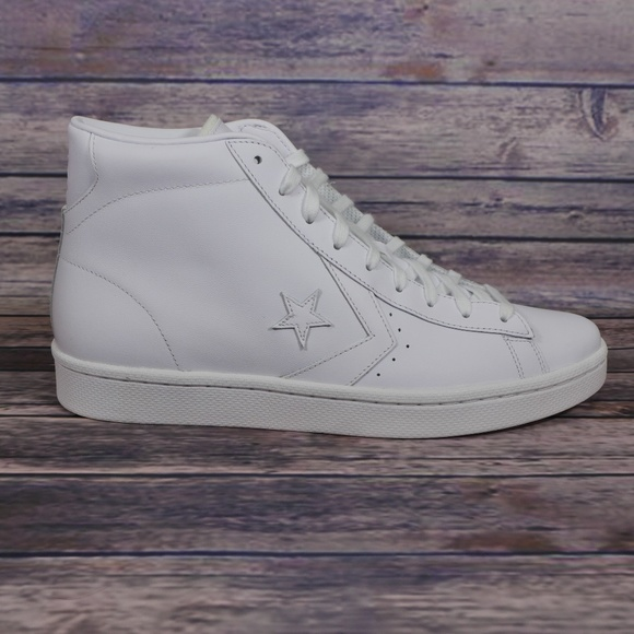 bfb56e3bce75f NEW Converse PL 76 Ox Mid Triple White Leather NWT